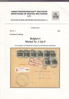 30/970 - Deutsche Besetzung Im Belgien , Michel Nr 1 Bis 9 , Par Gerhard Ludwig , 2004 , 36 Pg - Etat TTB - Philatelie Und Postgeschichte