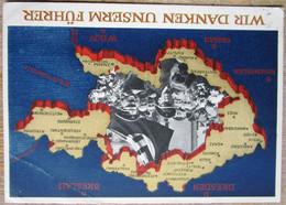 DR Propagandakarte 6 Pfg. Gelaufen Stempel Braunau - Interi Postali