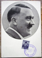 DR Postkarte Männer Der Zeit Adolf Hitler SST Linz - Storia Postale