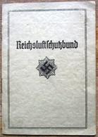 DR Mitgliedsheft Und Mitgliedskarte Reichsluftschutzbund Mit Wertmarken Aus Wien - Lettere