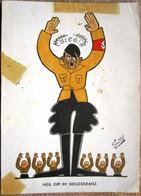 DR Hitler Mit Siegeskranz Karikatur Von Smits + Foto Aus Nymegen - Lettere