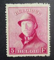 BELGIE 1919     Nr. 177    Scharnier *    CW 122,00 - 1919-1920  Cascos De Trinchera