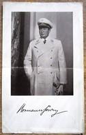 DR Foto Von Hermann Göring Mit Autogramm + Blatt Mit Panzerlied - Beides Gefaltet - Autografi