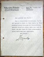 DR Orignalbrief Vom Reichsverkehrsminister Dorpmüller 1937 Mit Unterschrift - Autografi