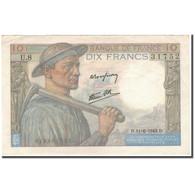 France, 10 Francs, Mineur, 1942-06-11, TTB, Fayette:8.3, KM:99c - 1871-1952 Antichi Franchi Circolanti Nel XX Secolo