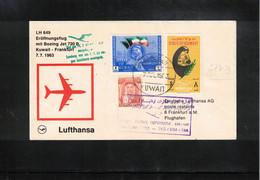 Kuwait 1963 Lufthansa Boeing Jet 720 B First Flight Kuwait - Frankfurt - Kuwait