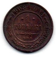 Russie / 1 Kopek 1908 / TTB - Russia