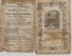 Lot De 2 Souvenirs Mortuaires Différents DE WYELS Joannes-Baptista (1808-1856) Geboren Te ONZE-LIEVE-VROUW-LOMBEEK --> - Andachtsbilder