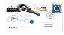ECLIPSE DE SOLEIL 11 AOUT 1999   Point Philatélie  Chalons En Champagne - Cachets Commémoratifs