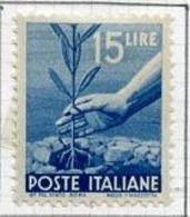 Italie - Italy - Italien 1945-48 Y&T N°498 - Michel N°699 * - 15l Plantation D'olivier - Mint/hinged
