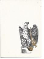 L555B155 - Légion étrangère - Carte Ouvrante Imprimé Par Les Presses De Képi Blanc - Léger Gauffrage - Régiments