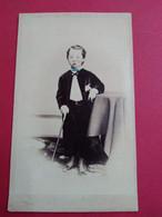CDV ENFANT - Superbe CDV Américaine - Garçonnet Avec Canne - Colorisée à La Main - Circa 1865 - Photo E.R. Morgan & Co. - Oud (voor 1900)