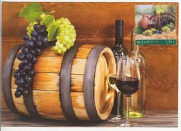 2020 , MOLDOVA ,  MOLDAVIE ,  MOLDAU  ,  National Wine Day , Vine , Vino , Grapes , Maxicard , Special Cancell - Wein & Alkohol