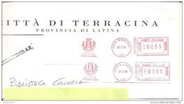 ITALIA - 2008 Comuni D'Italia: TERRACINA (LT) - Stemma: CASTELLO - Ema Affrancatura Meccanica Rossa Red Meter - Marcophilie - EMA (Empreintes Machines)