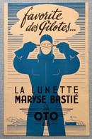 Maryse Bastié Aviation Publicité Lunette Années 1930 - Advertising