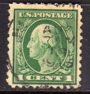 USA STATI UNITI 1916 1917 PRESIDENT GEORGE WASHINGTON PRESIDENTE CENT. 1c USED USATO OBLITERE' - Gebraucht