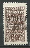 Algérie  Colis Postaux  Yvert N° 9    Neuf Sans Gomme    - Ad41105 - Parcel Post