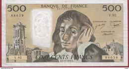 """500 Francs """"Pascal"""" Du  05/10/1978.E----F/TTB+-----ALPH V.92 - 500 F 1968-1993 ''Pascal''"""