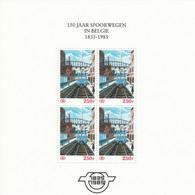 TRBLN1/3F+4 ** (MNH) --- Herdenkingsvelletjes 150 Jaar Spoorwegen In België; Paul Delvaux --- OBP € 4200,00 - 1952-....