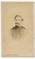 BOULOGNE SUR MER, L. Caudevelle -  Photo CDV, Officier Militaire, Médailles - Old (before 1900)