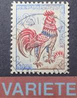 R1118/49 - 1962 - COQ DE DECARIS - N°1331d ☉ ➤➤➤ Papier Spécial Fluor / Jaune Vif Aux U.V. - Variedades: 1960-69 Nuevos