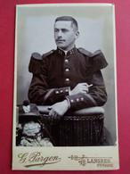 CDV Militaire - Beau Portrait Jeune Militaire Gradé - Shako - 31 Sur Col - Infanterie - Photo Pargon, LANGRES - TBE - Krieg, Militär