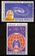 Indonesië / Indonesia 1968 Nr 620/621 Postfris/MNH 40 Jarig Bestaan Bosscha Sterrenwacht Te Lembang - Indonesia