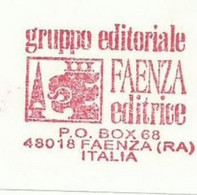 EMA METER STAMP FREISTEMPEL FAENZA ITALY LION BLASON COAT OF ARMS LEON LEONE OBELISC - Big Cats (cats Of Prey)
