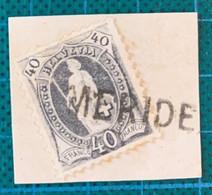 Suisse - Meride (Tessin ) -1/06/1874 à 31/3/1887 - Groupe 43/M N°Z147 -non Coté Sur S.Helv. -timbre 40c T1 Z N°69A - Zonder Classificatie