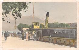 LAC D'ANNECY  Bateau Promenade à Vapeur à Quai  Beau Plan 1933 - Annecy