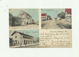 67 - LIPSHEIM - Gruss Aus ,multivues Gare , Rue ,  Bistrot Animé Bon état - Autres Communes