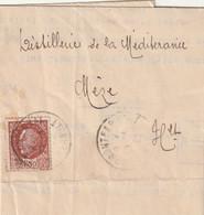 Cournonteral---mèze---herault---34---lettre Pour Distillerie De Mèze - Manuscripten