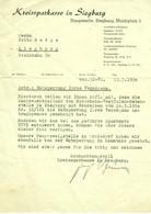 """Siegburg 1950 Rechnung /Kopf """" Kreissparkasse Entsperrung Vermögen Nachkrieg """" - Banco & Caja De Ahorros"""