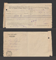 Egypt - 1934 - The Egyptian Royal Government - Receipt Of Receiving Checks - Covers & Documents