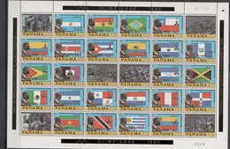 Panama 1980 Olympic Games Moscow / Lake Placid Sheetlet With Golden Overprint MNH -scarce- - Estate 1980: Mosca