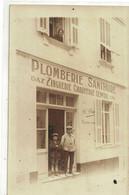 CPA PHOTO  Magasin  Plomberie Sanitaire ( Trouvé Dans Un Lot D'Epernay ) - Cartoline