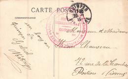 CACHET Hopital Auxiliaire N°4  De QUIMPER ( Sur Carte Postale Chasse Aux Poux En Bretagne ) - Postmark Collection (Covers)