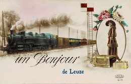 Un Bonjour De Leuze Circulée En 1924 - Leuze-en-Hainaut