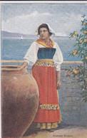PS / COSTUMI SICILIANI . Jeune Femme En Costume Traditionnel Et Cruche Géante - Sin Clasificación