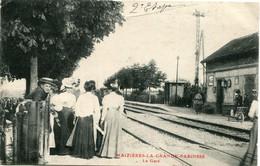 MAIZIERES LA GRANDE PAROISSE (AUBE)  - LA GARE - BEAU CLICHE - - Bahnhöfe Ohne Züge