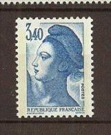 France:n°2425 ** Liberté 3,40 Bleu - Nuovi