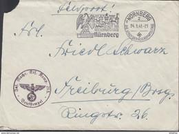 Feldpost-Umschlag, Inf.Nachr.Ers.Komp.215, Briefstempel: Nürnberg 24.3.1940 - 1939-45