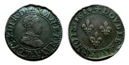 LOUIS XIII Double Tournois 1614 A (Paris) - 1610-1643 Louis XIII Le Juste