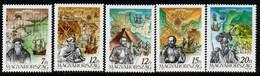 Hungary 1991, Scott 3314-3318, MNH, Discovary Of America, Explorers - Neufs