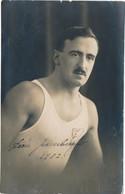 Carte-photo -  Portrait D'un Sportif En Marcel Par GRAEPLER à La Chaux De Fonds (Suisse) - (1922) (BP) - Sports