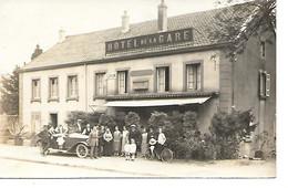 Carte Photo Ronchamp Surement Hotel De La Gare Belle Animation Voiture Ancienne Voir Le Nom Au Verso) - Francia