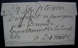 Le Puy  Marque 38 X 14  Sur Lettre Pour Brioude Sans Date Ni Correspondance - 1701-1800: Precursores XVIII