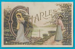 Cpa Fantaisie Alphabet  Prénom Charles - Firstnames