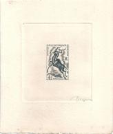 AEF Afrique Equatoriale Epreuve D'artiste Signée DECARIS Originale Sur Papier Cartonné - Lettres & Documents