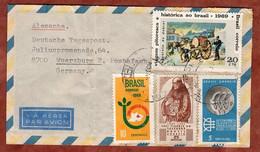 Luftpost, Debret U.a., Paraiba Nach Wuerzburg 1969 (97997) - Cartas